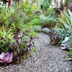 Graphic garden - Small Yards - Sunset