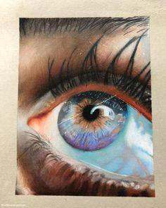 Eye Drawings, Pencil Drawings, Realistic Eye Drawing, Eyes Artwork, Art Hacks, Color Pencil Art, Art Tips, Drawing People, Graffiti Art