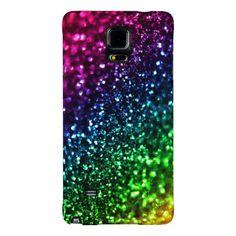 #Rainbow #Glitter Psychedelic #Galaxy Note 4 case  #zazzle