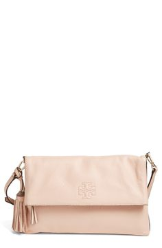 8e8453011a6d Free shipping and returns on Tory Burch  Thea  Leather Foldover Crossbody  Bag at Nordstrom