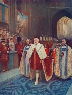 The Coronation of King Edward VII and Queen Alexandra, 1902 . The King's procession entering Westminster Abbey. From Cassell's History of England, Vol. IX, Get premium, high resolution news photos at Getty Images Tudor, Adele, Royal Family Portrait, Queen's Coronation, Alexandra Of Denmark, History Of England, King Edward Vii, Donald Trump Jr, Best Portraits