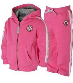 2cb0cc71c9de Converse Baby Girl s Chuck Patch Tracksuit in PINK - 3-24 months.