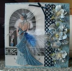 art deco cards dress card craft cards birthday cards birthday wishes . Kanban Cards, Debbie Moore, Art Deco Cards, Tattered Lace Cards, Lace Art, Dress Card, Feather Art, Beautiful Handmade Cards, Card Making Inspiration