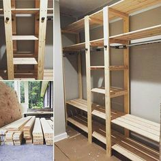 Favorite Brag Posts of 2015 & Ana White The post Favorite Brag Posts of 2015 Closet Redo, Closet Remodel, Closet Bedroom, Closet Space, Diy Wardrobe, Built In Wardrobe, Wardrobe Ideas, Rustic Closet, Closet Built Ins