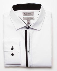Slim Fit Piqué Shirt  White/Black  $69.95                                                                                                                                                                                 More