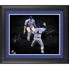 """Wade Davis, Drew Butera Kansas City Royals Fanatics Authentic 2015 MLB World Series Champions Framed Autographed 16"""" x 20"""" World Series Last Out Photograph with Last Out Inscription - $279.99"""