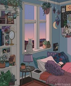 28 collection of bedroom drawing aesthetic high quality free rose gold wallpaper interior grunge Art And Illustration, Landscape Illustration, Animal Illustrations, Character Illustration, Art Inspo, Kunst Inspo, Animes Wallpapers, Cute Wallpapers, Aesthetic Art