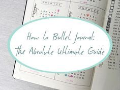 This is the guide I used to start my bullet journal; it's a great introduction to the hows and whys of bullet journaling. A fantastic tool for organisation, time management and productivity!