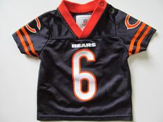 17fd0a19dbc Unisex Baby NB 0/3 Months NFL Chicago Bears #6 Jay Cutler Team Apparel  Jersey…
