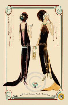 Beautiful Art Deco Fashion Girls Elegant by DragonflyMeadowsArt, $25.00