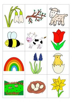 Bingo For Kids, School Themes, Kindergarten Worksheets, Spring Crafts, Adult Coloring Pages, Toddler Activities, Literacy, Crafts For Kids, Preschool