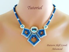 DISCOVERY beaded necklace beading tutorial por PeyoteBeadArt