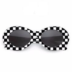 2b8d8c6026a756 Checkered Clout Goggles. Oval SunglassesVintage SunglassesFashion ...