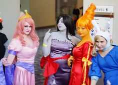 Princesses and Fionna (Adventure Time) Cosplay   Awesome Con DC 2013