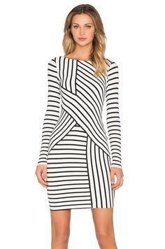 Bailey 44 Deconstruction Dress in Cream Stripe | REVOLVE