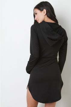 "Our ""Long Sleeved Hoodie Dress"" is perfect for a casual day out...find it on Shoptruthonline.com"