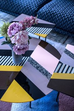 LUXURY FURNITURE  Colorful Tables basses by Patricia Urquiola.   bocadolobo.com/ #luxuryfurniture #designfurniture