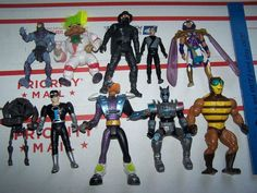 1980's VINTAGE and very rare ACTION FIGURES LOT OF 10