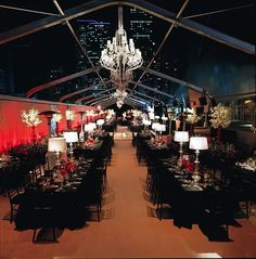 Wow! Beautiful reception lit up with gorg red #uplighting  #city lights! Photo via #AfricanSweetheart
