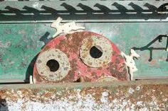 Antique cast iron shooting gallery target.