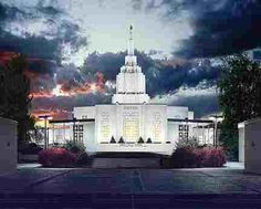 the Idaho falls temple is beautiful.