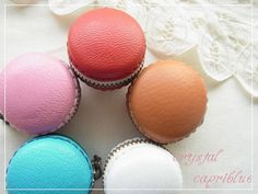 leather and liberty small small Macaron coin purse