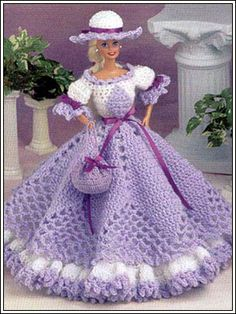 Barbie Crochet: Cotillion Hoop Gown, pattern
