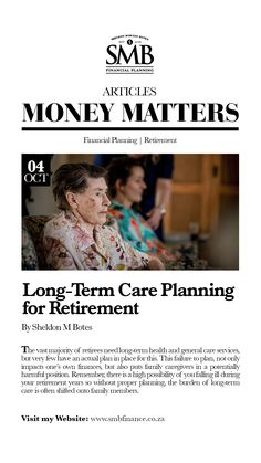 Long-Term Care Planning for Retirement Retirement Planning, Financial Planning, Long Term Care, Care Plans, Money Matters, Caregiver, Finance, Positivity, How To Plan
