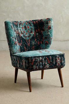 Dhurrie Occasional Chair Dark Turquoise
