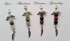 Bag Charm / Mobile Charm - Angel Palm Beads, for Abundance, Attracting Love, Protection & Grounding - pinned by pin4etsy.com