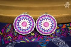 Adult coloring wooden mandala earring pair - meditation DIY jewelry Kit - laser cut gift - bridal earring - wedding gift - fashion -handmade Bridal Gifts, Wedding Gifts, Diy Jewelry Kit, Wooden Earrings, Wood Patterns, Stylish Jewelry, Different Patterns, Bridal Earrings, Adult Coloring