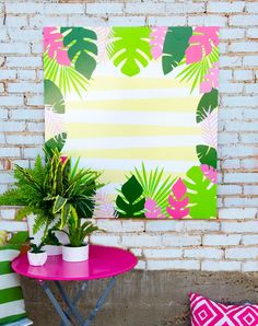 These PRINTABLE (DIY) backdrop is perfect for your upcoming Luau. This game must be printed at your local print shop. It's a LARGE file, so a professional print shop is a must. This listing is for PRINTABLE 'Autumn Leaves & Pumpkins Please': Party Printables, Free Printables, Party Kulissen, Diy Backdrop, Flamingo Party, Backdrops For Parties, Summer Diy, Party Themes, Party Ideas