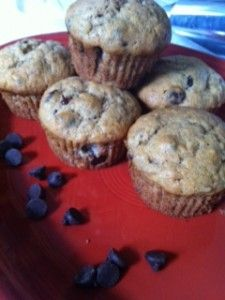 Banana Chocolate Chip Muffins. They aren't Nonnies but I have hopes!
