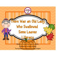 Classroom Freebies Too: There Was an Old Lady Who Swallowed Some Leaves FREEBIE