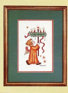 Vintage Hummel Cross Stitch Pattern Book 9.  After researching, there are three patterns I could not match with names.  They are Christmas Angel, Little Gabriel. and Star Bethlehem.