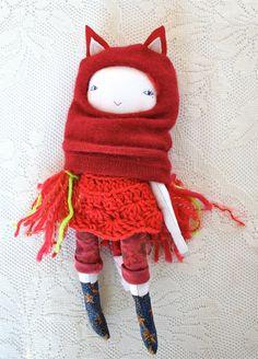 little lu fox girl doll  13 ish  waldorf inspired by humbletoys