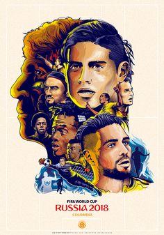 Tribute to colombian soccer squad and their coach that made their way through southamerica play-offs to be in FIFA World Cup Russia Football Soccer, Football Players, Soccer Ball, Colombia Soccer Team, James Rodriguez Colombia, Leonel Messi, World Cup Russia 2018, Fifa World Cup, Poster On