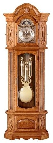 Hermle St. Francis Old World Styled Oak Finish Grandfather Clock traditional clocks