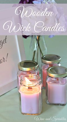 I used the ends of my wedding candles and favor jars for these lovely wooden wick favor candles for upcoming showers and gifts for my friends! These also work wonderfully for Bridal Shower favors, Wedding Favors, or Baby Shower Favors! Wine Candles, Old Candles, Favour Jars, Candle Favors, Yellow Candles, Wedding Favor Boxes, Baby Shower Fun, Bridal Shower Favors, Diy Craft Projects