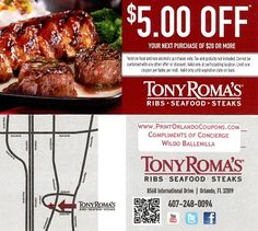 Orlando restaurant discount coupons