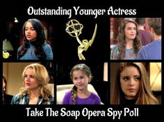 The nominees for 2016 Daytime Emmy Outstanding Younger Actress in a Drama Series have been announced. Two young actress from 'The Bold and the Beautiful,'and one actress each from 'General Hospital,' 'The Young and the Restless' and 'Days of Our Lives' received nominations in this category.  Who