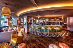 "Coppa Club Maidenhead - dpa lighting consultants - ""Right Light, Right Place, Right Time"" ™ #dpalighting #lightingdesign #restaurantlighting #barlighting #pendants #concealedlight #covelighting #walllights #tablelamps #decorativelighting"