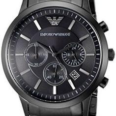 Emporio-Armani-Herren-Armbanduhr-XL-Chronograph-Quarz-Edelstahl-AR2453-0