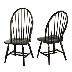 I like these for the kitchen table!  The spacious Alexa Dining chairs are the perfect addition to any dining area. These chairs feature  comfortable and spacious seats and high Windsor chair backs for elegant style.