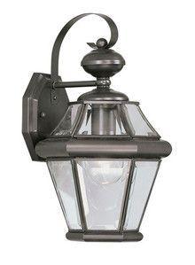 Livex Lighting 2161-07 Georgetown Outdoor Wall Lantern in Bronze