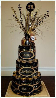 Basket Gift Ideas For Men 64 Ideas For 2019 Looking for an original cute birthday gifts? Then take a look at our range of birthday present ideas. We've got something birthday gifts for her, mom, dad, friends and more. 50th Birthday Centerpieces, Birthday Party Decorations, 40th Birthday Parties, 60th Birthday, 30th Birthday Ideas For Men Party, 50th Birthday Cakes For Men, Happy Birthday, Beer Can Cakes, Birthday Cake Pinterest
