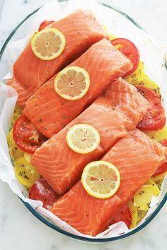 fish recipes salmon - fish recipes & fish recipes healthy & fish recipes tilapia & fish recipes baked & fish recipes for dinner & fish recipes salmon & fish recipes easy & fish recipes mahi mahi Salmon Fish Recipe, Tilapia Fish Recipes, Whole30 Fish Recipes, Baked Salmon Recipes, Healthy Dinner Recipes, Vegetarian Recipes, Steak Recipes, Seafood Recipes, Healthy Tacos