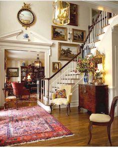 Design Entrée, Table Design, House Design, Design Ideas, Edge Design, Style At Home, Foyer Decorating, Interior Decorating, Decorating Bedrooms