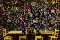 Chalkboard wall -Trops.food fast food restaurant by T-Design, Sofia – Bulgaria » Retail Design Blog