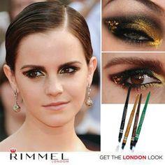 ¿Qué les parece este Golden Eye look de Emma Watson? ¡Lo mejor de todo es que pueden lograrlo con nuestros delineadores en gel Exaggerate Waterproof Noir y Precious Gold!